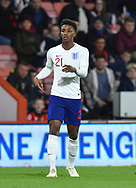 Demarai Gray of England U21's during the U21 International match between England and Germany at the Vitality Stadium, Bournemouth, England on 26 March 2019.