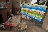 Kids in fishing village, Changshan Island, Poyang Ho Lake, Jiangxi province, China