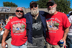 Willie and friends at the Old School bike show at his Tropical Tattoo during Biketoberfest, Ormond Beach, FL, October 16, 2014, photographed by Michael Lichter. ©2014 Michael Lichter