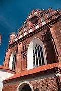 View of St. Anne's/Sv. Onos and St. Bernard's/Berardinu Church/Baznycia, Old Town/Senamiestas, Vilnius, Lithuania