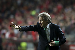 January 3, 2018 - Lisbon, Portugal - Sporting's coach Jorge Jesus gestures during the Portuguese League  football match between SL Benfica and Sporting CP at Luz  Stadium in Lisbon on January 3, 2018. (Credit Image: © Carlos Costa/NurPhoto via ZUMA Press)