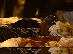 November 20, 2016 - Kanpur, Uttar Pradesh, India - Kanpur: Hand of a dead body's appears from the debris of  derailed Indore Patna Express train, in Pukhrayan village, some 60 kms from Kanpur, on November 20,2016. More than 150 people died in Accident, According to officials. (Credit Image: © Prabhat Kumar Verma via ZUMA Wire)