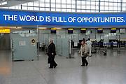 Terminal five at Heathrow Airport London.