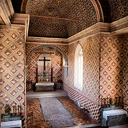 "SINTRA, Portugal - The chapel was built during the reign of King Dinis at the beginning of the 14th century. During the 15th century it was subjected to several alterations, including a decorated ceiling showing Islamic influence, ceramic tile ""carpet"", and wall frescoes. It was restored in the 1930s. The Palace of Sintra (Palácio Nacional de Sintra) is a mediaeval royal palace in Sintra and part of the UNESCO World Heritage Site that encompasses several sites in and around Sintra, just outside Lisbon. The palace dates to at least the early 15th century and was at its peak during the 15th and 16th centuries. It remains one of the best-preserved royal residences in Portugal."