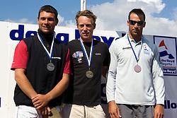 Medemblik - the Netherlands, May 31th 2009. Delta Lloyd Regatta in Medemblik (27/31 May 2009). Day 5, Medal races. Laser Podium.
