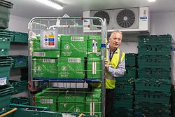 Warehouse operations at FareShare's relocated warehouse in Ashford, Kent. Ashford, Kent, May 23 2019.