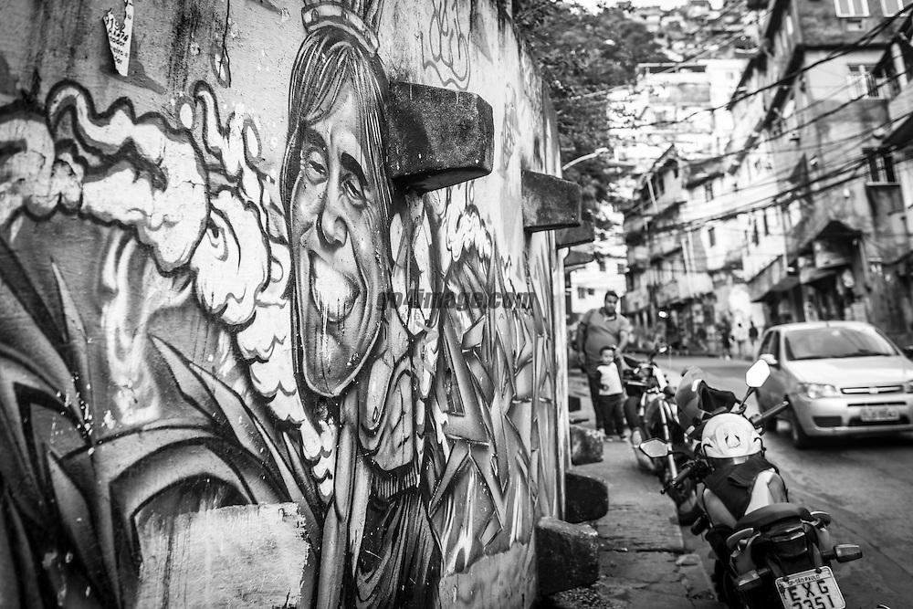 Favela Rocinha in Rio de Janeiro, August 2016 during the Rio 2016 Olympic Games