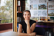 Mexico City, Mexico – February 26, 2018: Portrait of Tatiana Bilbao, a Mexican architect, in her office in Mexico City.