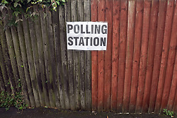 Referendum Polling station sign Bicester UK 2016