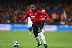 December 12, 2018 - Valencia, Spain - December 12, 2018 - Valencia, Spain - .Romelu Lukaku of Manchester United during the UEFA Champions League, Group H football match between Valencia CF and Manchester United on December 12, 2018 at Mestalla stadium in Valencia, Spain (Credit Image: © Manuel Blondeau via ZUMA Wire)