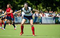HUIZEN - Grace Huberts (Huizen) bij de eerste play off wedstrijd voor promotie naar de hoofdklasse , Huizen-Nijmegen (3-2) COPYRIGHT KOEN SUYK