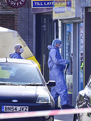 March 24, 2019 - London, UK - LONDON, UK.  Forensics officers attend an address at Marsh Road, Pinner, north west London, after being called at approximately 06:00hrs on 24 March to reports of a man found suffering injuries from a reported stabbing.  He was pronounced dead at the scene by officers and London Ambulance Service.  Enquiries are ongoing, no arrests have yet been made. (Credit Image: © Stephen Chung/London News Pictures via ZUMA Wire)