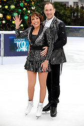 Didi Conn (left) and Lukasz Rozycki during the press launch for the upcoming series of Dancing On Ice at the Natural History Museum Ice Rink in London. Picture date: Tuesday December 18, 2018. Photo credit should read: David Parry/PA Wire