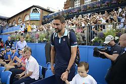 June 24, 2017 - London, England, United Kingdom - Marin Cilic of Croatia enters the court to play the semi final of AEGON Championships at Queen's Club, London, on June 24, 2017. (Credit Image: © Alberto Pezzali/NurPhoto via ZUMA Press)