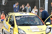 De Jumbo Racedagen, driven by Max Verstappen op Circuit Zandvoort. / The Jumbo Race Days, driven by Max Verstappen at Circuit Zandvoort.<br /> <br /> Op de foto / On the photo: Prinses Laurentien in gesprek na de crash tijdens de tweede ronde van de ladies GT race met Prins  Constantijn en kinderen Leonore , Eloise en Claus-Casmir /  Princess Laurentien after the crash during the second round of the ladies GT race