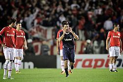 Maximiliano Vela comemora gol do Independiente em partida válida pela final da Recopa Sulamericana 2011, no Estadio Beira Rio, em Porto Alegre. FOTO: Jefferson Bernardes/Preview.com