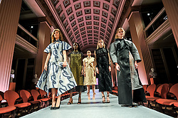 Pictured: Models with some of the dresses that form part of the fashion collective show 'From Shanghai with Love' at the University of Edinburgh.<br /> <br /> © Dave Johnston / EEm