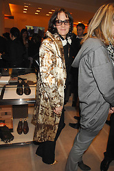 LUCY BIRLEY at a reception to launch the 2007 Louis Vuitton Christmas windows in collaboration with Central Saint Martins College of Art & Design held at 17-18 New Bond Street, London W1 on 7th November 2007.<br />