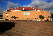 Canarian wrestling stadium building in Tetir, Fuerteventura, Canary Islands, Spain