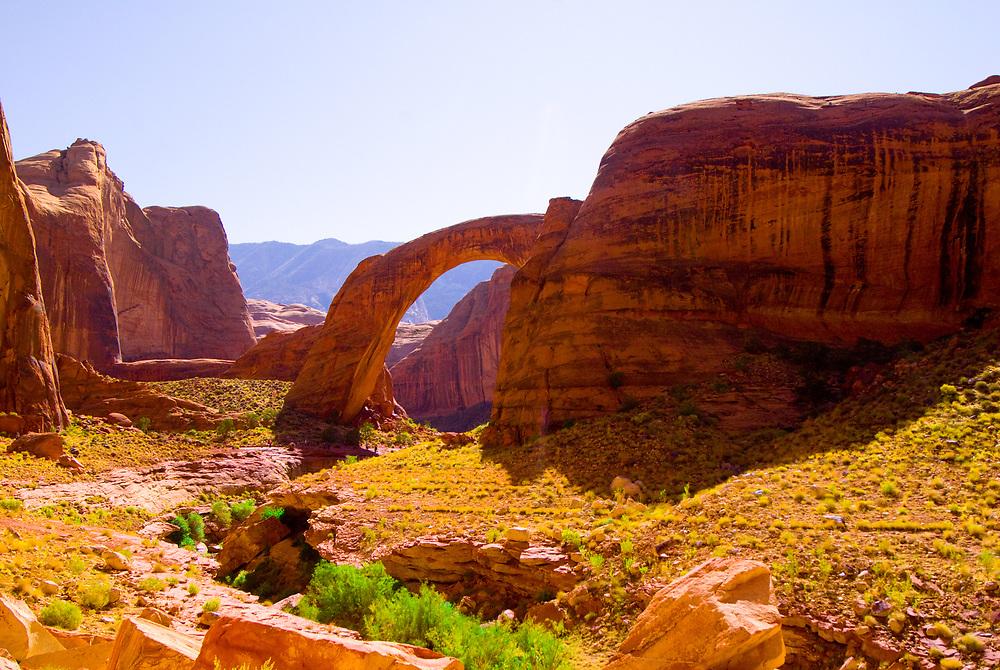 Rainbow Bridge National Monument, Lake Powell, Glen Canyon National Recreation Area, Arizona/Utah border USA