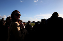 General view of racegoers watching the 3.20pm Read Harry Fry On Betway Blog Handicap Chase race