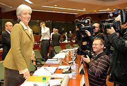 Christine Lagarde, France's finance minister, smiles for press photographers during ECOFIN, the meeting of EU economic and finance ministers, in Brussels, Belgium, Tuesday, Dec. 2, 2008. (Photo © Jock Fistick)