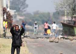 South Africa - Durban - 20 July 2020 - Lamontville residents clash with police, burn municipality cars after voicing their unhapiness over service delivery regarding electricity in the area that has been switched off for a long period<br /> Picture: Doctor Ngcobo/African News Agency(ANA)