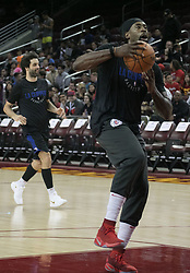 October 10, 2017 - Los Angeles, California, U.S - DeAndre Jordan #6 of the Los Angeles Clippers goes for a basket during their Free Open Practice for fans held on Tuesday October 10, 2017 at the Galen Center in USC in Los Angeles, California. (Credit Image: © Prensa Internacional via ZUMA Wire)