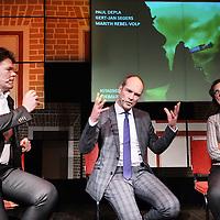 Nederland, Amsterdam , 8 april 2014<br /> Stadsgesprek in de Balie met als thema, het softdrugsbeleid in Amsterdam.<br /> Het StadsgesprekHoe kunnen we in Amsterdam tot een oplossing komen en afkomen van het schemergebied tussen legaal en illegaal waarin de softdrugs zich bevinden? We spreken in dit Stadsgesprek over de Amsterdamse beleidsmaatregelen, over de verhouding van Amsterdam met landelijke politiek, de positie van de coffeeshophouder en de toekomst van het drugsbeleid van de stad.<br /> Op de foto: Paul Depla (Burgemeester Heerlen), Gert-Jan Segers (Tweede Kamerlid Christenunie) en Marith Rebel (Tweede Kamerlid PvdA) <br /> Foto:Jean-Pierre Jans