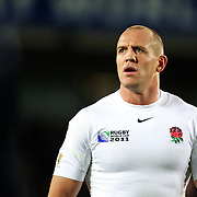 Mike Tindall, England,  during the England V Scotland Pool B match during the IRB Rugby World Cup tournament. Eden Park, Auckland, New Zealand, 1st October 2011. Photo Tim Clayton...