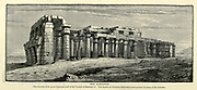 The Rameseum The remains of the Great Hypostyle hall of the Temple of Rameses II Wood engraving from 'Picturesque Palestine, Sinai and Egypt' by Wilson, Charles William, Sir, 1836-1905; Lane-Poole, Stanley, 1854-1931 Volume 4. Published in 1884 by J. S. Virtue and Co, London