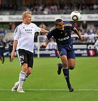 Fotball CL Champions League Trondheim 04.08.2010 Rosenborg ( RBK ) - AIK,<br />  Steffen Iversen og Walid Atta,<br /> Foto: Carl-Erik Eriksson, Digitalsport