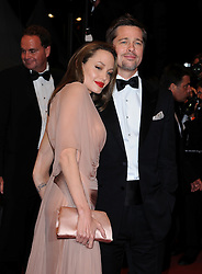 """Angelina Jolie and Brad Pitt were married Saturday in the French hamlet of Correns, a spokesman for the couple says. Jolie and Pitt wed in a small chapel in a private ceremony attended by family and friends at Provence's Chateau Miraval. In advance of the nondenominational civil ceremony, Pitt and Jolie obtained a marriage license from a local California judge. The judge also conducted the ceremony in France. File photo : """"Brad Pitt and Angelina Jolie leave the screening of """"""""Inglourious Basterds"""""""" at the 62nd Cannes Film Festival. Cannes, France, May 20, 2009. Photo by Lionel Hahn/ABACAPRESS.COM (Pictured: Brad Pitt, Angelina Jolie)"""""""