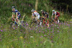 July 3, 2017 - Longwy, france - LONGWY, LUXEMBOURG - JULY 3 : HANSEN Adam (AUS) Rider of Team Lotto - Soudal, BACKAERT Frederik (BEL) Rider of Wanty - Groupe Gobert, BROWN Nathan (USA) Rider of Cannondale - Drapac team, SICARD Romain of Direct Energie, HARDY Romain (FRA) Rider of Fortuneo - Vital Concept and POLITT Nils (GER) Rider of Team Katusha - Alpecin are the escape group during stage 3 of the 104th edition of the 2017 Tour de France cycling race, a  stage of 212 kms between Verviers and Longwy on July 03, 2017 in Longwy, Luxembourg, 3/07/2017 (Credit Image: © Panoramic via ZUMA Press)