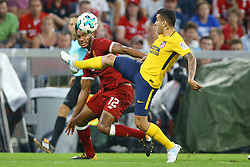 August 2, 2017 - Munich, Germany - Angel Correa of Atletico Madrid and Joe Gomez of Liverpool during the Audi Cup 2017 match between Liverpool FC and Atletico Madrid at Allianz Arena on August 2, 2017 in Munich, Germany. (Credit Image: © Matteo Ciambelli/NurPhoto via ZUMA Press)