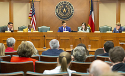March 25, 2019 - Austin, TX, USA - At the Texas House Judiciary & Civil Jurisprudence Committee on Monday, March 25, 2019, the seats of state Rep. Jessica Farrar, D-Houston, and state Rep. Yvonne Davis, D-Dallas, sit empty. (Credit Image: © Stephen Spillman/Austin American-Statesman/TNS via ZUMA Wire)