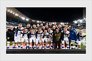 Finland celebrates their third consecutive win at the Nations League. Finland - Ireland. Helsinki, October 14, 2020.