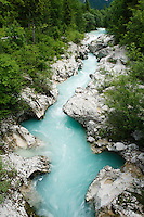 "River Soca at ""Mala korita"" (""Little Canyon""), cascades, stones<br /> Triglav National Park, Slovenia<br /> June 2009"