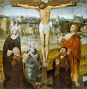 Christ's Passion (Triptych known as Altarpiece of St Antony) Detail: Christ on the cross. Anonymous 16th century:  Oil on wood. Church of St Nicolas, Tallin.