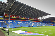 A general view of Cardiff City Stadium, home of Cardiff City FC before the EFL Sky Bet Championship match between Cardiff City and Bristol City at the Cardiff City Stadium, Cardiff, Wales on 28 August 2021.