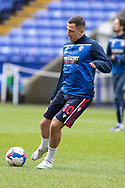 Bolton Wanderers midfielder Antoni Sarcevic warming up before the EFL Sky Bet League 2 match between Bolton Wanderers and Cheltenham Town at the University of  Bolton Stadium, Bolton, England on 16 January 2021.
