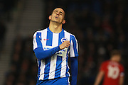 Brighton & Hove Albion winger Anthony Knockaert during the EFL Sky Bet Championship match between Brighton and Hove Albion and Fulham at the American Express Community Stadium, Brighton and Hove, England on 26 November 2016. Photo by Bennett Dean.
