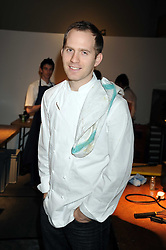 Chef BRYN WILLIAMS at an exhibition entitled 'Cut Flowers' by Robin Derrick held at 70a Silverthorne Road, London SW8 on 8th October 2008.