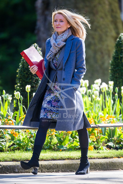 Secretary of State for Work and Pensions Esther McVey arrives at 10 Downing Street to attend the weekly cabinet meeting.