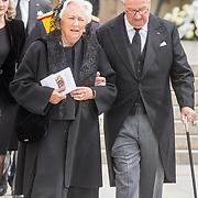 LUX/Luxemburg/20190504 - Funeral of HRH Grand Duke Jean/Uitvaart Groothertog Jean, Belgiums former King Albert II (R) and Queen Paola (L)