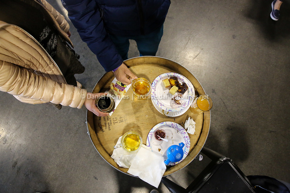 (4/28/19, FRAMINGHAM, MA) Local beer and food during the 3rd Annual Taste of Downtown Framingham at the Springdale Barrel Room in Framingham on Sunday. [Daily News and Wicked Local Photo/Dan Holmes]