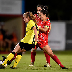 BRISBANE, AUSTRALIA - APRIL 7:  during the NPL Queensland Senior Women's Round 3 match between Olympic FC and Moreton Bay Jets on April 7, 2021 in Brisbane, Australia. (Photo by Patrick Kearney)