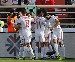 2019?1?12?.   ??????1???——D??????????.    1?12??????????·????????????????.    ??????????????2019???????D??????????????.    ????????..(SP)UAE-AL AIN-SOCCER-AFC ASIAN CUP 2019-GROUP D-VNM VS IRN..(190112) -- ABU DHABI, Jan. 12, 2019  Iran's Sardar Azmoun (2nd R) celebrates after scoring during the 2019 AFC Asian Cup group D match between Vietnam and Iran at the Al Nahyan Stadium in Abu Dhabi, the United Arab Emirates, Jan. 12, 2019. (Credit Image: © Xinhua via ZUMA Wire)