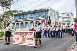 Ivanna Eudora Kean High School JROTC.  St. Thomas Memorial Day Ceremony and Parade.  Franklin D. Roosevelt Veterans Park.  St. Thomas, USVI.  30 May 2016.  © Aisha-Zakiya Boyd