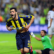 Fenerbahce's Daniel Gonzalez GUIZA celebrate his goal during their Turkish superleague soccer derby match Fenerbahce between Trabzonspor at the Sukru Saracaoglu stadium in Istanbul Turkey on Sunday 16 May 2010. Photo by TURKPIX